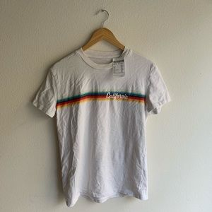 Brandy Melville white California rainbow tee